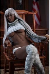 Real doll Black articulée en TPE Premium - 164cm - Natalia
